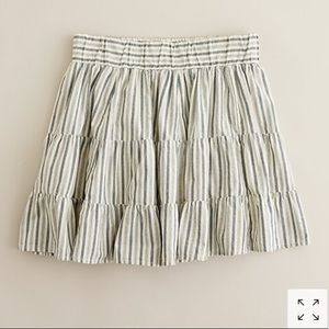 J. Crew Chambray Stripe Skirt size Small